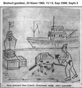 04.23.1964-Rum Gümrükçünün Türk mallarına verdiği zarar