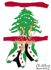 Syrian Flame Jumped to Lebanon by Ata ATUN