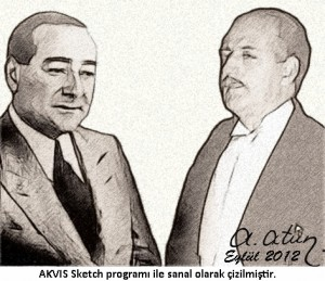 Founders of TMT, Adnan Menderes and Fatin R. Zorlu by Ata ATUN