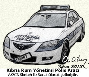 Cyprus Greek Police Car Entering to TRNC Without Permission by Ata ATUN