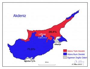 Annan Planı Sonrası Kıbrıs Haritası by Ata ATUN