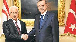 Presidents Erdogan and Eroglu