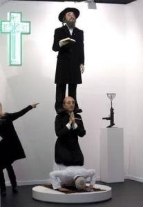 Madrid'deki Müslüman-Hristiyan-Musevi heykeli