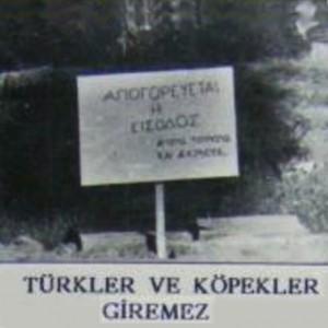Türkler ve köpekler giremez-Larnaka 1964